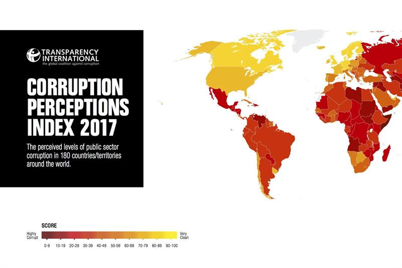 Foto zu Artikel: Der Corruption Perceptions Index (CPI) 2017 ist online